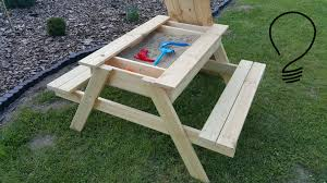 how to make a sandbox picnic table youtube