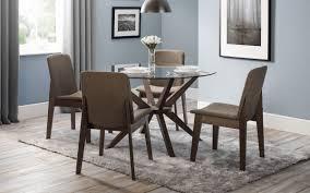 julian bowen chelsea glass dining set with kensington chairs 379
