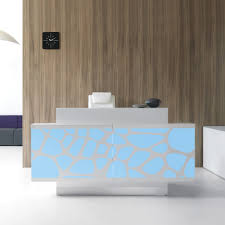 Illuminated Reception Desk Organic Reception Desk With Illuminated Screen Front