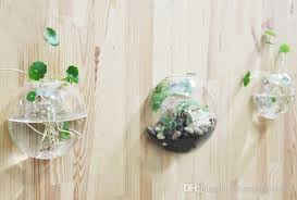 Decorate Flower Vase Clear Glass Wall Planter Flower Vase Diy Wall Succulent Terrarium