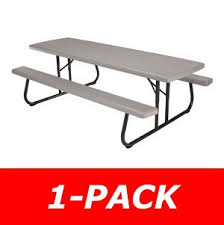 8 foot lifetime table products 80123 8 ft putty commercial folding picnic table