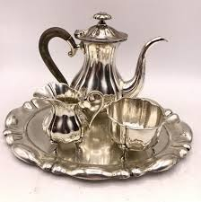 aubert si e auto 4 silver coffee set d j aubert the hague second half