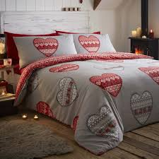 Brushed Cotton Duvet Covers Boden Red Brushed Cotton Flannelette Quilt Cover Sets