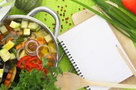 eux de cuisine livre de recette vierge avec la soupe aux légume équipement de