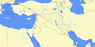 doha qatar map qatar to istanbul flights