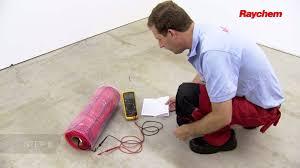 raychem quicknet floor heating mat installation us version youtube
