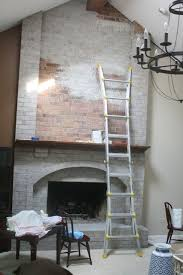 How To Make Fake Fireplace by Best 25 Painted Brick Walls Ideas On Pinterest How To Whitewash