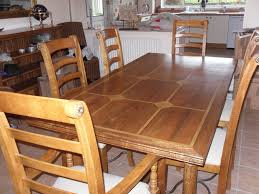 dining room table and 6 chairs original mango wood with stone