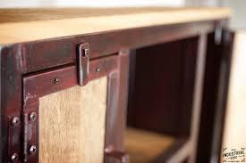 industrial entryway shelf red patina u0026 reclaimed hemlock u2013 real