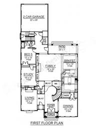 baltimore narrow houseplan luxury house plans