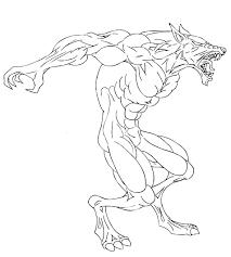 werewolf sketch by micha81 on deviantart