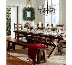 pottery barn christmas table decorations pottery barn dining table decor home decorating ideas