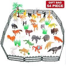 animals figure 54 piece mini jungle animals toys set valefortoy