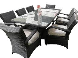 8 Seat Patio Dining Set - 8 seat outdoor cast aluminium and rattan dining sets