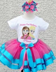 sparkle blue pink frozen sisters ribbon tutu skirt