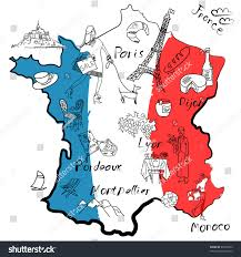 France Region Map by Stylized Map France Things That Different Stock Vector 97536653