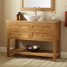 Open Bathroom Vanity by Teak Wood Freestanding Bathroom Vanity In Natural Finished With