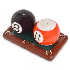 home design novelty pool table with balls ceramic salt and