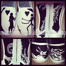 nightmare before painted shoes slip on painted canvas