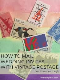 Stamps For Wedding Invitations Mailing Wedding Invitations With Vintage Stamps The Found City