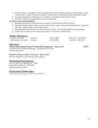 Culinary Resume Sample by Private Service Resume Template Book