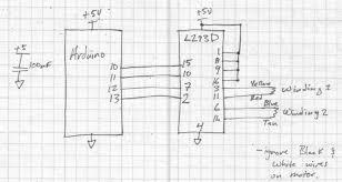 arduino and l293d stepper motor driver drewforchione
