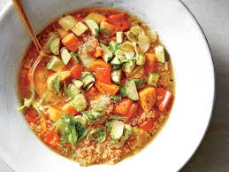 quinoa cuisine veggie quinoa soup recipe cooking light