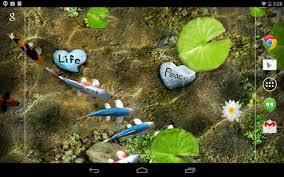 wallpaper ikan bergerak untuk pc koi free live wallpaper apps on google play