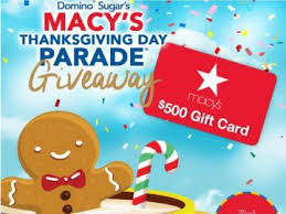 sugar s 2017 macy s thanksgiving day parade giftcard giveaway