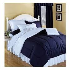 Blue Full Comforter Amazon Com Reversible Solid Color Comforter Navy Blue Reversing