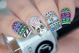 easter nail art grumpy cat u0026 geo tribal glitterfingersss in