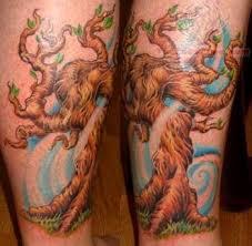 colorful tree tattoos designs
