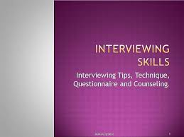 Counseling Interviewing Skills Interviewing Skills Authorstream