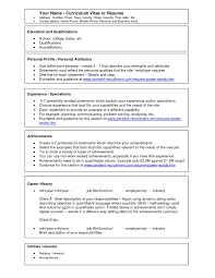 Best Example Of Resume Format by Curriculum Vitae Resume Template For Receptionist Make Free