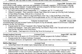 Resume Objective Examples For Hospitality by Resume Out Of College Volleyball Reentrycorps
