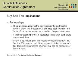 buy sell business continuation agreement chapter 40 tools