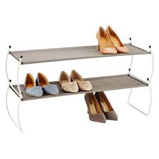 Container Store Shoe Cabinet Stackable Shelves The Container Store