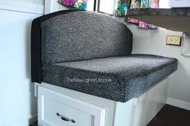 how to reupholster a sofa how to refinish an ugly booth dinette the new lighter life