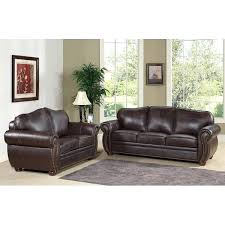 Brown Leather Sofa And Loveseat Lovable Brown Leather Sofa And With Home Co Wayfair Sofas And