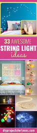 33 awesome diy string light ideas room decor dorm and teen