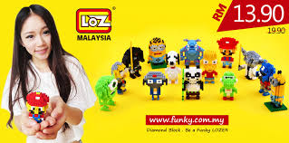 loz diamond blocks loz 9129 customize gift malaysia funky