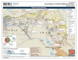 Syria And Iraq Map by Public Intelligence Geographical Imaginations