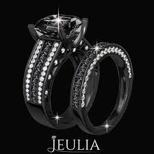 Jeulia Wedding Rings by 32 Best Black Diamond Rings For Black Addicts Images On Pinterest