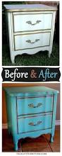 french nightstand in turquoise before u0026 after facelift furniture