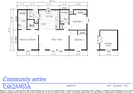 Floor Plans For Mobile Homes Double Wide Community Series Manufactured Home Double Wide Homes El Dorado Homes