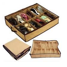 new women home 12 pairs shoe organizer storage box holder under