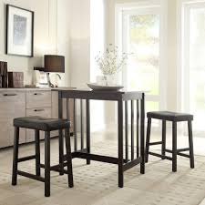 black counter height table set hubbard lane 3 piece black bar table set 405310bk mtl the home depot