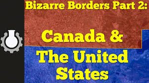A Picture Of The Map Of The United States by Canada U0026 The United States Bizarre Borders Part 2 Youtube