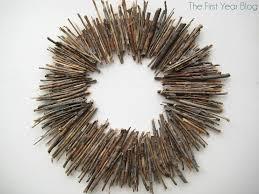 twig wreath the year