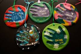 olive juice salt dough handprint ornaments